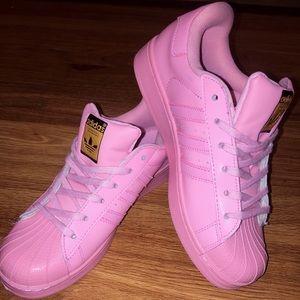 Women's Pink Shell Toe Adidas
